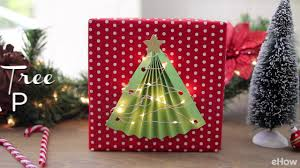 diy lighted christmas tree gift wrap youtube