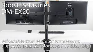 rosewill dual monitor desk mount boost industries dm ex20 dual arm monitor desk mount bracket for