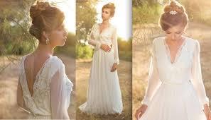 rustic wedding dresses discount simple sleeve boho wedding dresses v neck