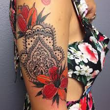 hamsa tattoo designs u0026 hand of fatima meaning