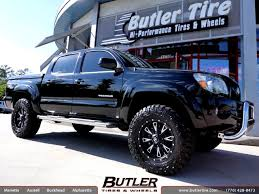toyota tacoma rims and tires toyota tacoma with 18in fuel throttle wheels exclusively from
