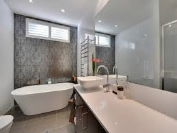 feature wall bathroom ideas damask feature wall bathroom bath walls and