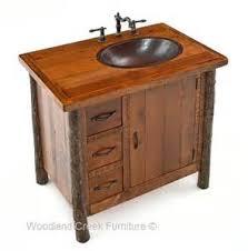 Log Vanity Rustic Hickory Bathroom Vanity Cabinet Tsc
