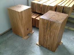 dark wood side table dark wood side tables our large oak pedestal side table in clear and