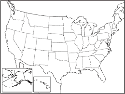 united states map outline free blank geography map of us united states features map free printout