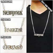 silver name chain necklace images Solt and pepper rakuten global market advance city name plate jpg