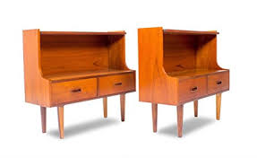 Mid Century Nightstands Amazon Com Mid Century Pair Of Danish Teak Nightstands End Tables
