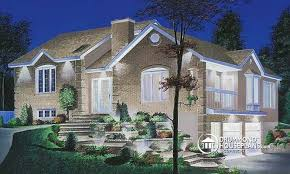 front sloping lot house plans house plan w2480 detail from drummondhouseplans com