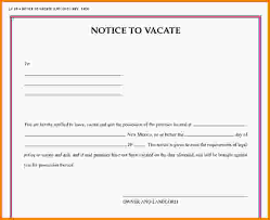 notice to vacate letter notice of intent to vacate jpg