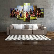 Jesus Home Decor by Jesus Christ U0026 Children Painting Wall Art Canvas Hd Print