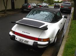 old porsche spoiler aussie old parked cars 1985 porsche 911 3 2 carrera targa