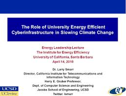 energy leadership lecture the institute for energy efficiency