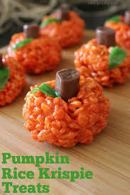 rice crispy treat pumpkins pumpkin rice krispie treats recipe cincyshopper