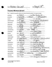 prefixes suffixes and root words for medical terminology