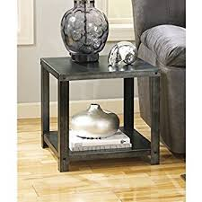 amazon com ashley zenfield square end table in medium brown