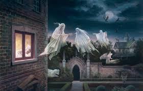 halloween background split monitor holiday halloween horror creepy spooky scary ghost haunted