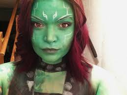 Make Up For Halloween Gamora Makeup For Halloween Cosplay My Portfolio Pinterest