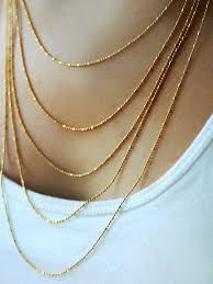 layered necklace chain images Multi layered necklace gold chain necklace layering jpg