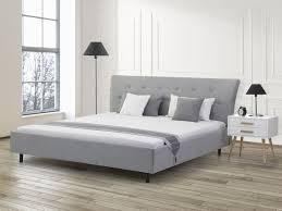 Ebay Schlafzimmer Betten Bett Hellgrau 180x200 Cm Doppelbett Polsterbett Stoffbett