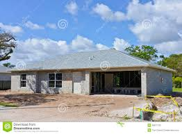 concrete block houses family house under construction stock image image 38877133