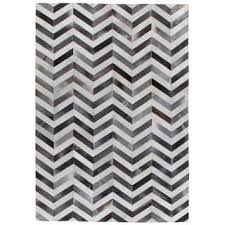 Hair On Hide Rug Exquisite Rugs Chevron Hide Silver White Leather Hair On Hide