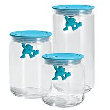 Glass Kitchen Canister by Kitchen Canisters Blue Top Pcs Canister Set Sealed Plastic