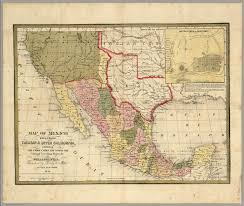 Map Of Yucatan Mexico by Map Of Mexico Including Yucatan U0026 Upper California David Rumsey