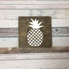 pineapple wood sign pineapple wood signs signs wooden