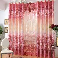 Red Blue Curtains Red Floral Curtains Red Floral Beautiful Pom Pom Curtains Summer