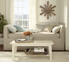 daybed images lewis slipcovered daybed pottery barn