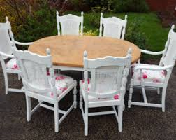 shabby chic dining chairs etsy uk