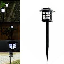 4pcs retro outside stake light waterproof solar lawn l