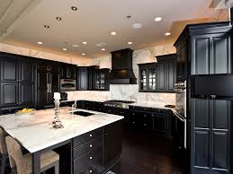 black cabinets with granite countertops charming home design
