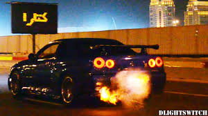 nissan gtr youtube top speed r34 nissan skyline gt r flames at night youtube