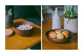 unique fruit bowl turned hardwood bowls tanner goods