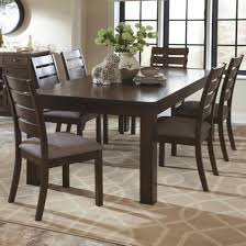coaster wiltshire 7 piece rustic table and slat back chair set