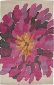 Purple Flower Rug Bst529 Area Rug