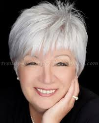 trendy gray hair styles short hairstyles over 50 short grey hairstyle trendy