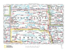 Map South Dakota White River Drainage Basin Landform Origins Nebraska And South