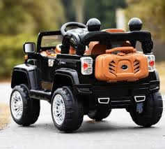 electric jeep wrangler style ride on 12v jeep electric kids car with remote black