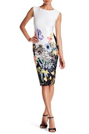 sl fashions cap sleeve floral sheath dress nordstrom rack