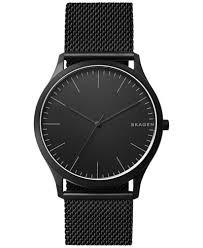 black mesh bracelet images Skagen men 39 s jorn black stainless steel mesh bracelet watch 41mm tif