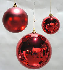 1 large 8 shiny ornaments 8inch