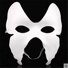 plain mask wholesale white unpainted mask plain blank version paper pulp
