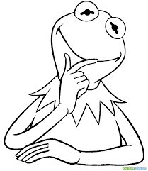 coloring download kermit the frog coloring page kermit the frog
