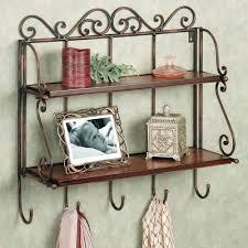 metal hanging bathroom wall shelves with towel hooks tikspor