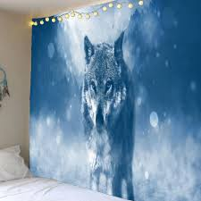 wolf home decor 2018 home decor lone wolf patterned wall art tapestry charm w inch