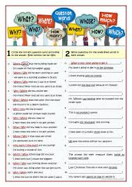 19 free esl questions subject questions worksheets