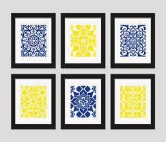 Yellow And Blue Decor Impressive Design Navy Wall Decor Nice Ideas 25 Best Ideas About