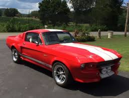 1968 shelby fast race red eleanor mustang gt500e replica fastback